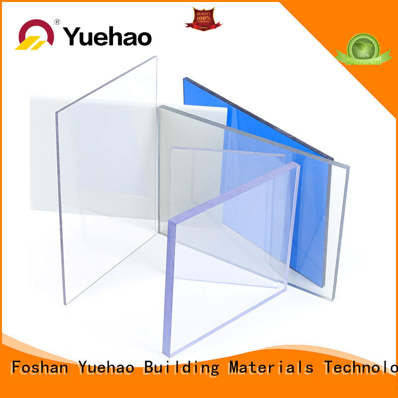 Yuehao plastic roof tiles wholesaler solid clear corrugated pvc roof panel factory price for connection