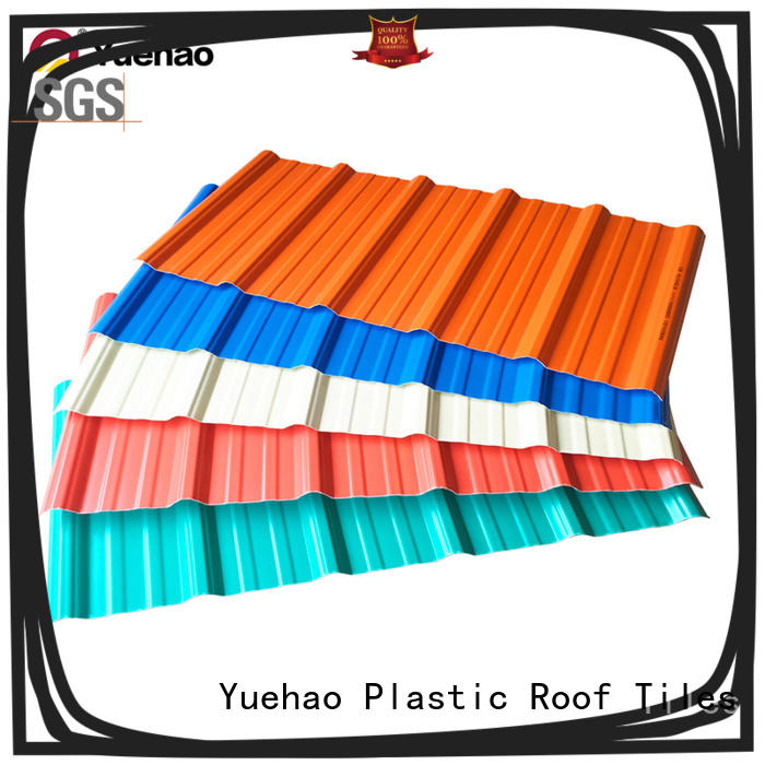 coated recycled plastic roof tiles modern wholesale for water draining