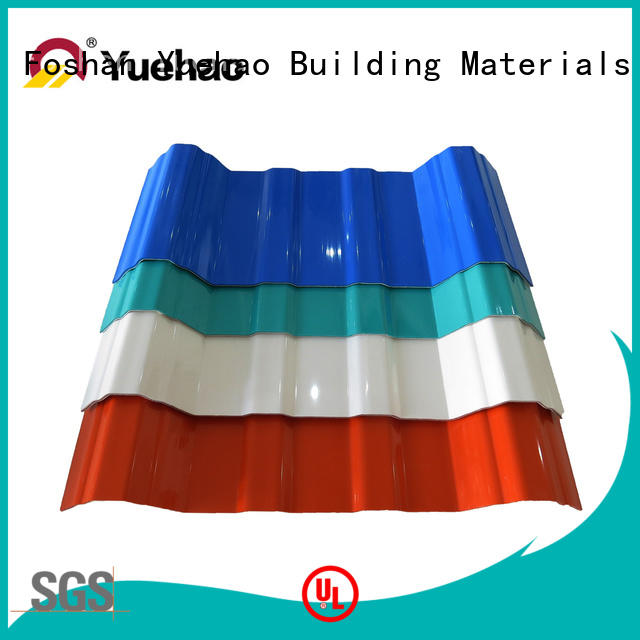 Yuehao plastic roof tiles wholesaler opaque corrugated roofing sheets supplier for connection