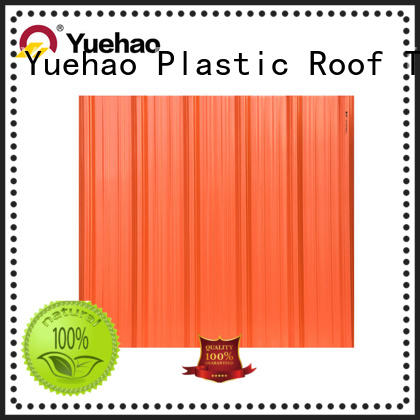 Yuehao plastic roof tiles wholesaler durable plastic roofing products marketing for airport