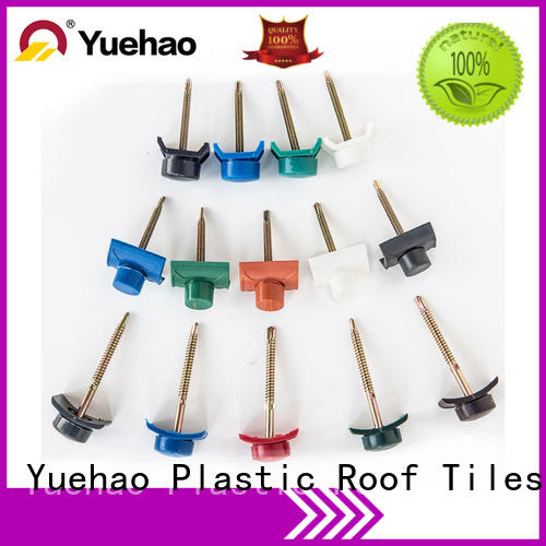 Yuehao plastic roof tiles wholesaler roof pvc corrugated sheet manufacturer wholesale for eaves flashing board