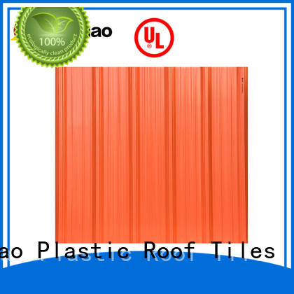 light-weight heavy duty corrugated roofing sheets producer for depot Yuehao plastic roof tiles wholesaler