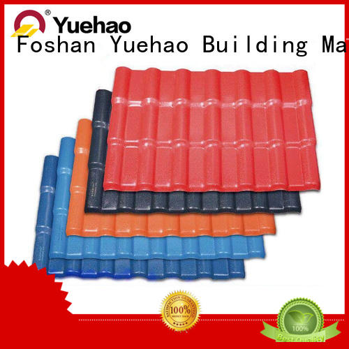 Yuehao plastic roof tiles wholesaler from ASA Roofing factory for wall sealing