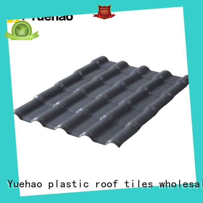 Yuehao plastic roof tiles wholesaler hot sale recycled plastic roof tiles with good price for wall sealing