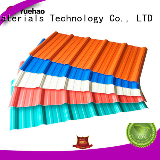 Yuehao plastic roof tiles wholesaler corrugated lightweight roofing system supplier for dormer clapping