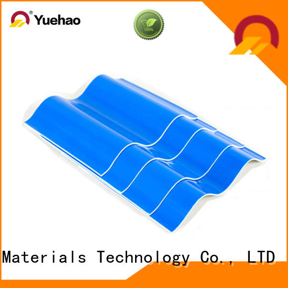 Yuehao plastic roof tiles wholesaler heat resistant heavy duty corrugated pvc roofing sheets grab now for airport