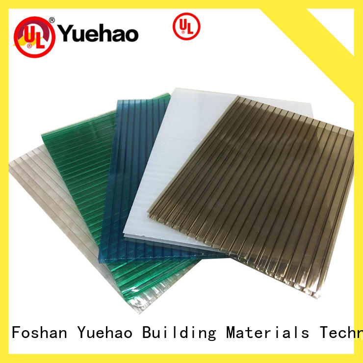 Yuehao plastic roof tiles wholesaler hot sale clear plastic roofing clear for dormer clapping