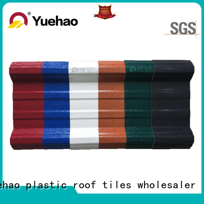 roof antiuv Yuehao plastic roof tiles wholesaler