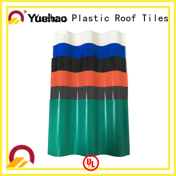 Yuehao plastic roof tiles wholesaler roof lightweight plastic roof tiles dropshipping for wall sealing