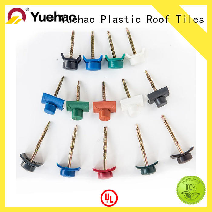 Yuehao plastic roof tiles wholesaler water proofing roofing tools and accessories wholesale for dormer clapping