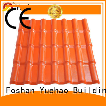 Yuehao plastic roof tiles wholesaler light recycled plastic roof tiles inquire now for dormer clapping