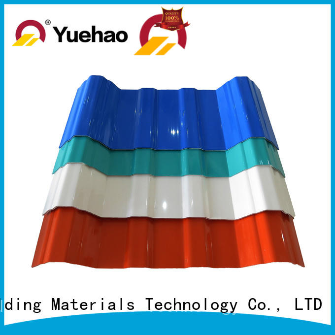 Yuehao plastic roof tiles wholesaler roof opaque corrugated roofing sheets personalized for eaves flashing board