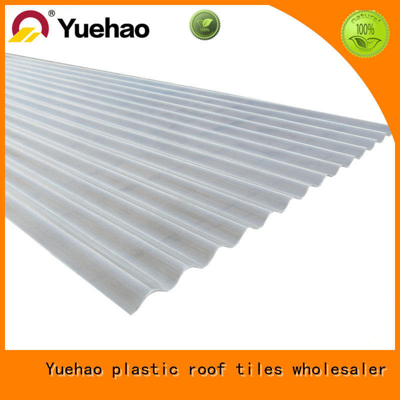 Yuehao plastic roof tiles wholesaler luxury clear roof panels price sheet for dormer clapping