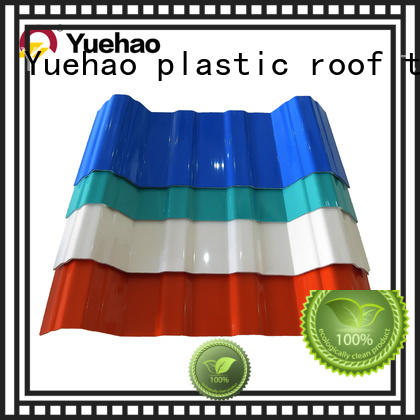Yuehao plastic roof tiles wholesaler excellent coloured plastic corrugated roofing sheets wholesale for dormer clapping