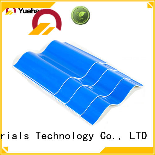 Yuehao plastic roof tiles wholesaler easy installation heavy duty clear corrugated roofing sheets for manufacturer for wall cladding