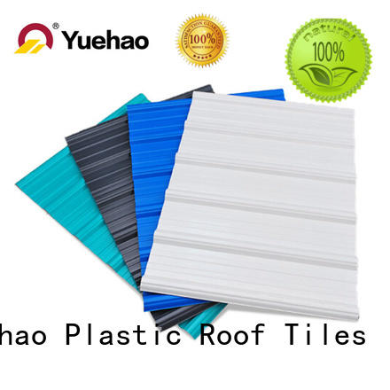 Yuehao plastic roof tiles wholesaler mounted heavy duty clear corrugated roofing sheets owner for carport