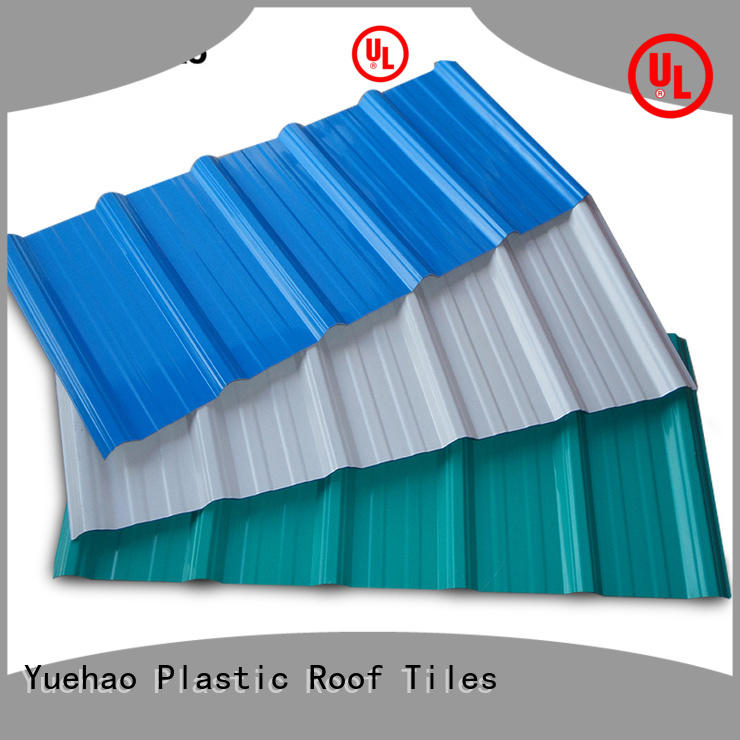 Yuehao plastic roof tiles wholesaler insulated plastic roofing products shop now for station
