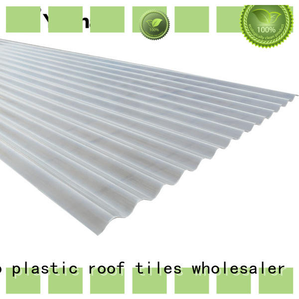 Yuehao plastic roof tiles wholesaler long life span clear barn roof panels personalized for water draining
