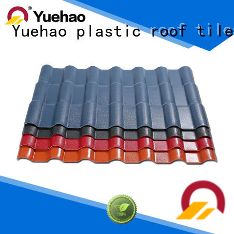 Yuehao plastic roof tiles wholesaler good design corrugated pvc panels design for water draining