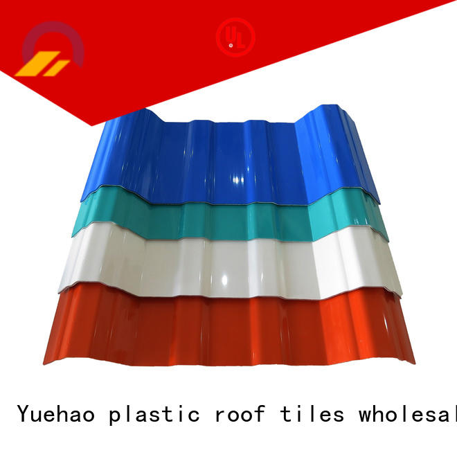 Yuehao plastic roof tiles wholesaler luxury plastic roof sheeting suppliers personalized for eaves flashing board
