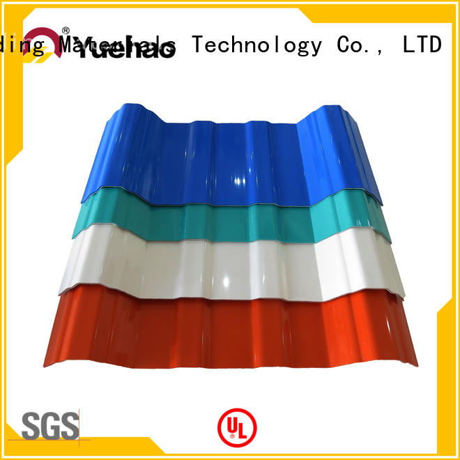 Yuehao plastic roof tiles wholesaler roof opaque corrugated roofing sheets factory price for connection