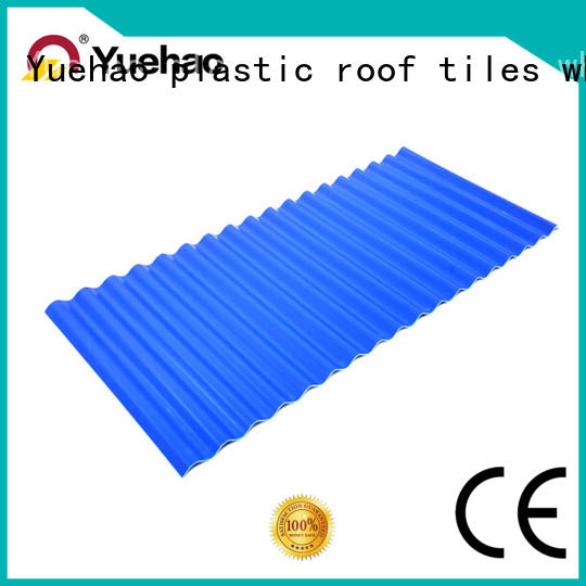 Yuehao plastic roof tiles wholesaler durable plastic roofing products shop now for station