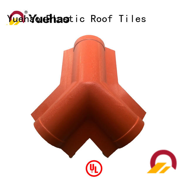 flashing best clear roof panel accessories tile for ending decoration Yuehao plastic roof tiles wholesaler