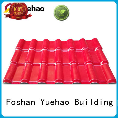 Yuehao plastic roof tiles wholesaler years plastic roof tiles manufacturer inquire now for water draining