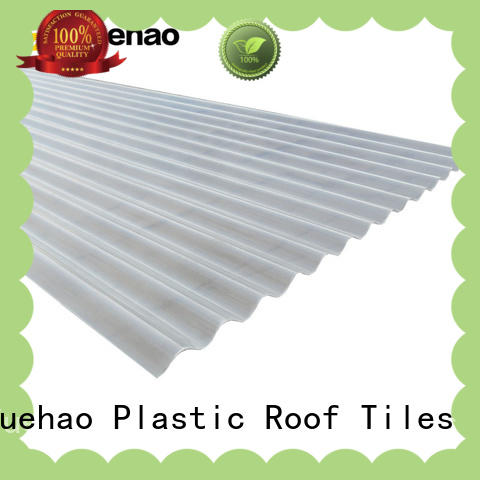 Yuehao plastic roof tiles wholesaler long life span clear plastic shed roofing factory price for wall sealing