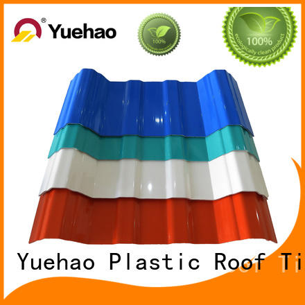 apvc roof tile edging apvc for dormer clapping Yuehao plastic roof tiles wholesaler