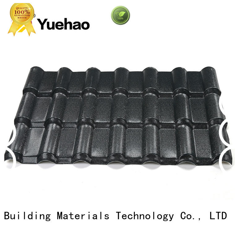 Yuehao plastic roof tiles wholesaler anti ASA Roofing Sheets design for ending decoration