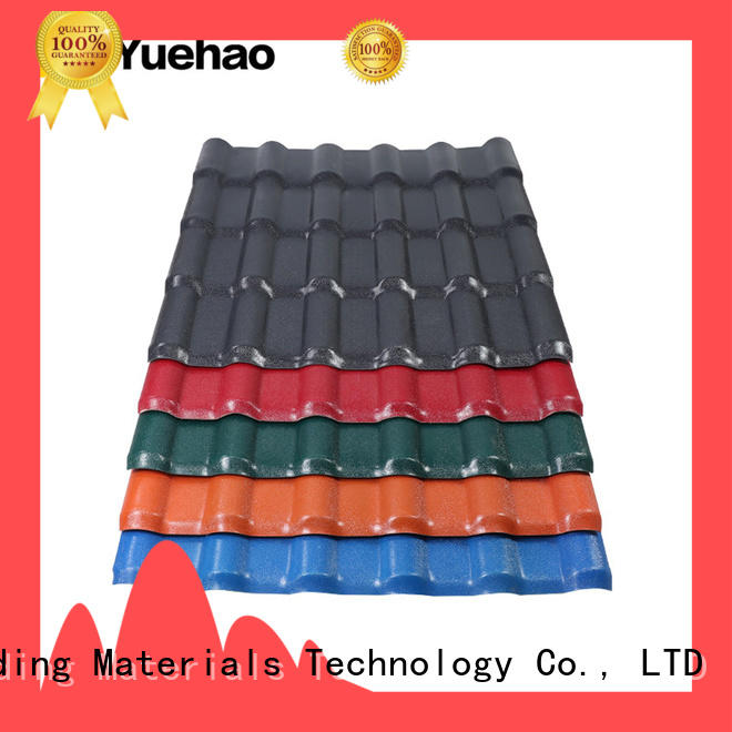 good design recycled plastic roof tiles color with good price for ending decoration