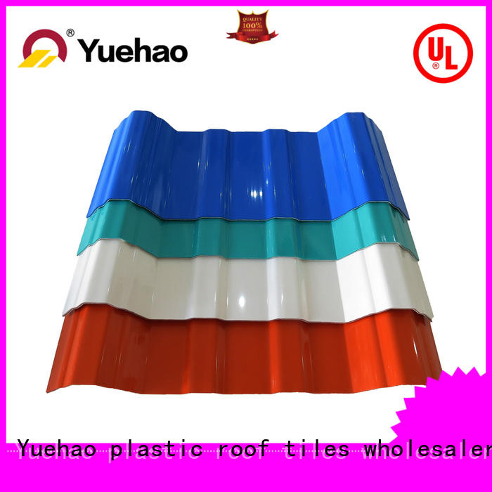 new arrival apvc roof tile edging wholesale for dormer clapping Yuehao plastic roof tiles wholesaler
