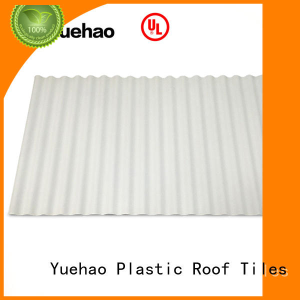 Yuehao plastic roof tiles wholesaler disabled PVC heat reflective roof supplier for wall cladding