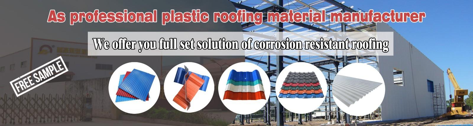 Yuehao plastic roof tiles wholesaler widely used PVC heat resistant roof overseas market for station-1