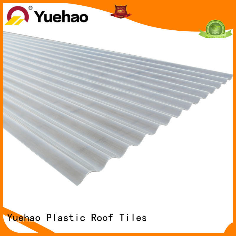 durable clear corrugated fiberglass roofing panels supplier for connection Yuehao plastic roof tiles wholesaler