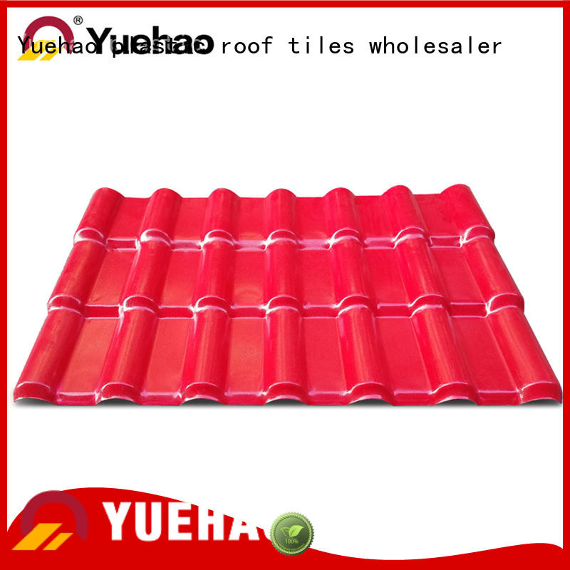 Yuehao plastic roof tiles wholesaler popular recycled plastic roofing with good price for wall sealing