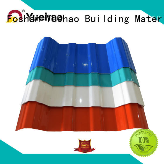 Yuehao plastic roof tiles wholesaler recycled plastic roof tiles supplier for dormer clapping