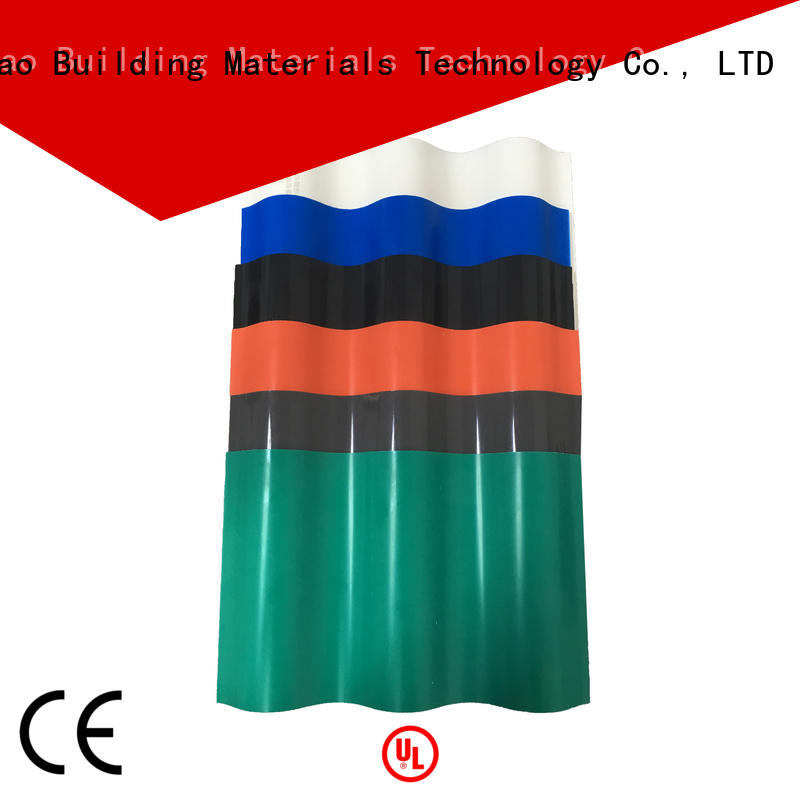 construction heat insulation roof tiles supplier for water draining Yuehao plastic roof tiles wholesaler