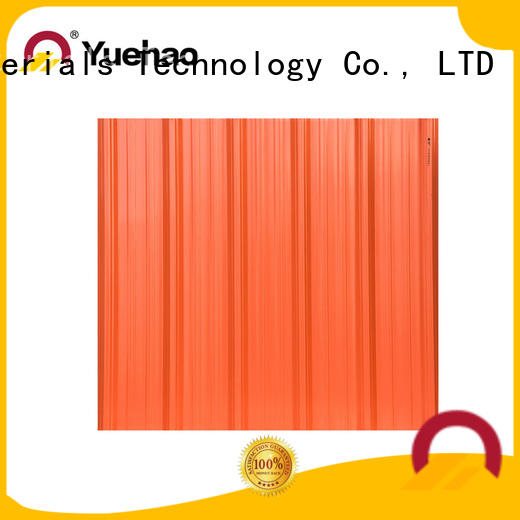 Yuehao plastic roof tiles wholesaler disabled heavy duty plastic panels shop now for wall cladding