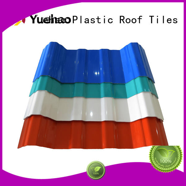high quality resistant OEM lightweight plastic roof tiles Yuehao plastic roof tiles wholesaler