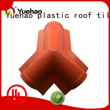 Yuehao plastic roof tiles wholesaler ridge roofing accessories ltd factory price for eaves flashing board