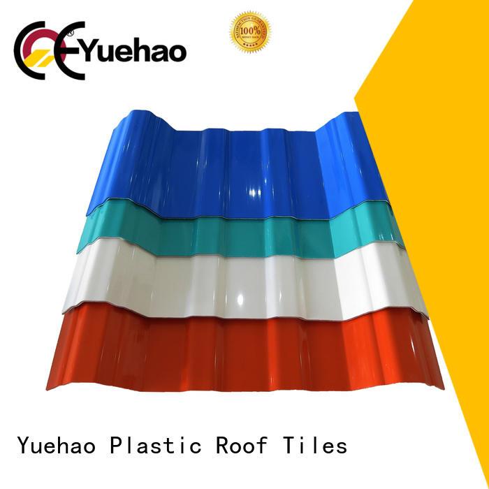 Yuehao plastic roof tiles wholesaler resistant plastic roof slates prices wholesale for eaves flashing board