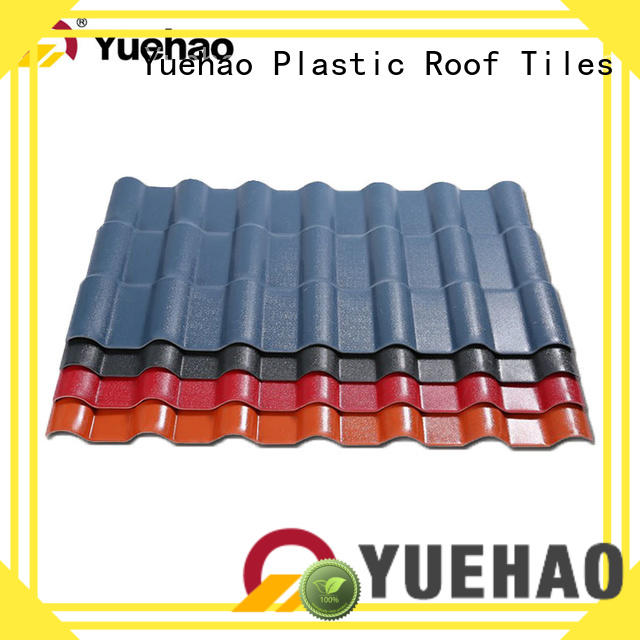 Yuehao plastic roof tiles wholesaler high quality synthetic roof tiles design for ending decoration