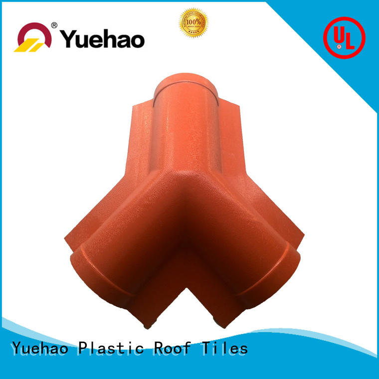 Yuehao plastic roof tiles wholesaler accessory pvc corrugated sheet manufacturer wholesale for eaves flashing board