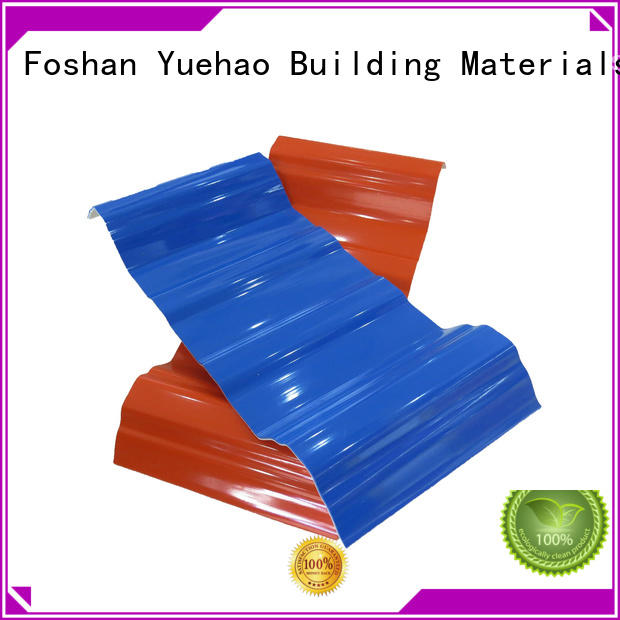 Custom best lightweight plastic roof tiles tile Yuehao plastic roof tiles wholesaler