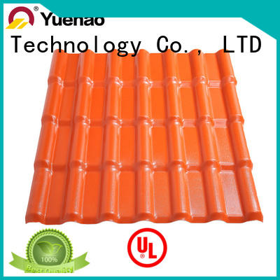 Yuehao plastic roof tiles wholesaler long corrugated pvc panels factory for ending decoration