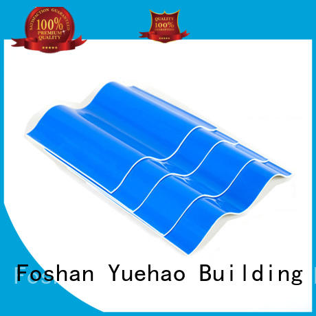 sheet heavy duty pvc sheet heat for airport Yuehao plastic roof tiles wholesaler