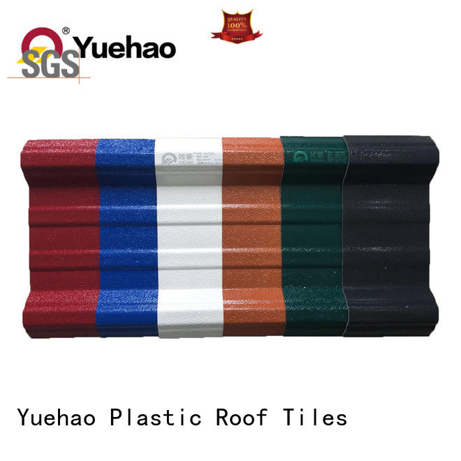 Yuehao plastic roof tiles wholesaler popular uv roofing sheets aging for construction application