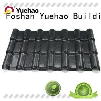 Yuehao plastic roof tiles wholesaler hot sale ASA Roofing with good price for water draining